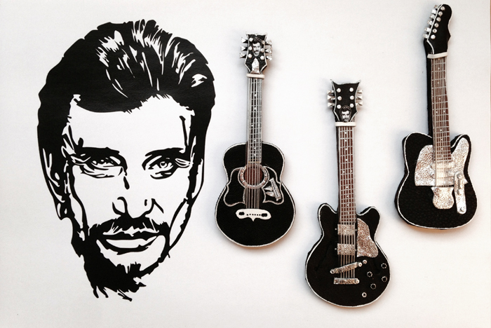 guitare,johnnyhallyday,johnny,hallyday,noir,fender,gibson,guitarecheval,rock,myrtillechartuss,myrtille,chartuss,musique