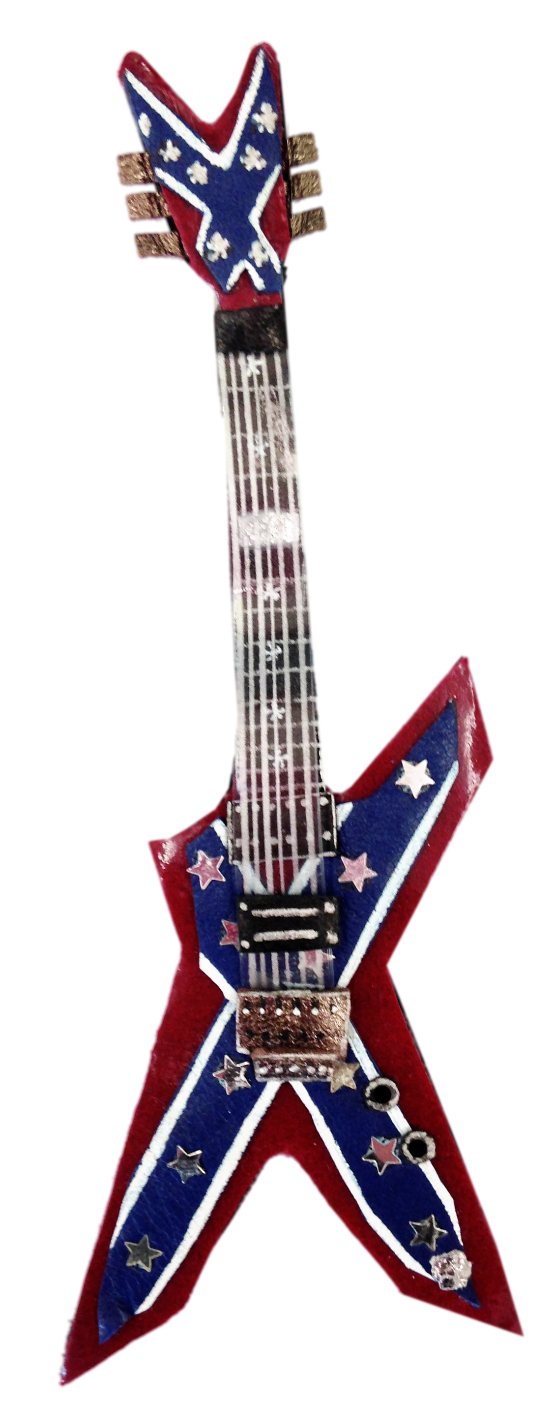 guitare,guitar,star,metal,rock,broche guitare, myrtille chartuss